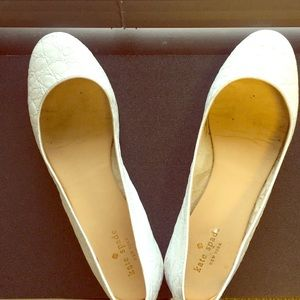 Kate Spade Marbled White Flats